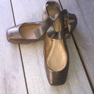 Jessica Simpson Shoes - Jessica Simpson rosegold ballet squa 7.5 Mandalaye